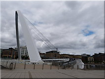 NZ2563 : Gateshead Millennium Bridge by Oliver Mills