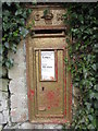 NT2033 : Gold postbox at Posso by M J Richardson