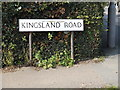 TM0112 : Kingsland Road sign by Adrian Cable