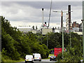 TL8666 : A134 near Sugar Beet Factory at Bury St Edmunds by David Dixon
