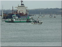 SZ6299 : Traffic in Portsmouth harbour by Shazz