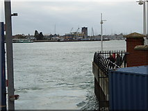 SZ6299 : Looking across Portsmouth harbour to Gosport by Shazz