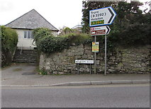 SW7834 : Direction sign, Helston Road, Penryn by Jaggery