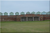 TQ2704 : Western Lawns and beach huts by N Chadwick