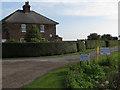 TA2920 : Bleak House Farm entrance, Sunk Island by Paul Harrop