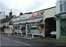 TM3863 : Post office and pharmacy, Saxmundham by JThomas