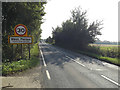 TM0113 : Entering West Mersea on the B1025 Colchester Road by Adrian Cable