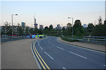 TQ3783 : Road giving vehicle access to the Olympic Stadium by Bill Boaden