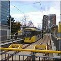 SJ8097 : MediaCityUK Tram stop by Gerald England