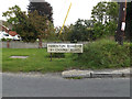 TM0219 : Abberton & Chapel Roads sign by Adrian Cable