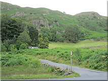 NY3204 : Elterwater - road junction by Peter S