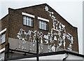 TQ3784 : Decoration on Building, Stratford, London by Christine Matthews