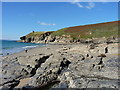 SW5926 : Mylor Slate platform at Rinsey Cove by Richard Law