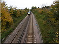 TR0965 : The railway towards Whitstable by Marathon