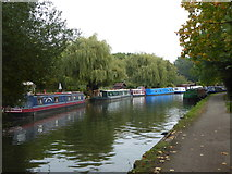 TQ1683 : Narrow boats on the Paddington Branch of the Grand Union Canal at Perivale by Rod Allday