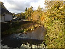 SC4384 : Above the weir on the Laxey River by Richard Hoare