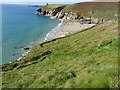SW5926 : Cornish hedge above Rinsey East Cliff by Richard Law