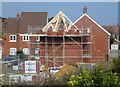 TF4208 : New houses being built, Sayer's Crescent, Wisbech St Mary - 3 by Richard Humphrey