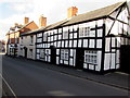 SJ5441 : Black and white houses, Dodington, Whitchurch by Jaggery