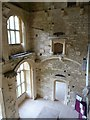 SO8001 : Woodchester Mansion - Looking down into the Hall by Rob Farrow