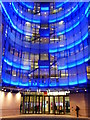 TQ2881 : The entrance to BBC Broadcasting House at night by Rod Allday