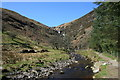 SH9524 : Afon Eiddew looking upstream towards Rhiwargor Waterfall by I Love Colour