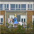 TQ1180 : Equestrian Statue at the Academy by Des Blenkinsopp