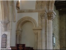 SP9599 : Wakerley: St. John the Baptist church: The Norman chancel and blind arches by Michael Garlick