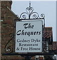 TF4125 : Sign for the Chequers,Gedney Dyke by JThomas