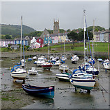 SN4562 : Harbour, boats and mainland at Aberaeron, Ceredigion by Roger  Kidd