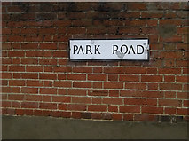 TM1645 : Park Road sign by Adrian Cable