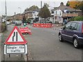 SP9111 : Leaking Water Main in Western Road, Tring by Chris Reynolds
