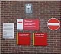 SJ2207 : Welshpool Delivery Office wall detail by Jaggery