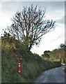 SM9629 : A Yarn Bomber Pillar Near Little Newcastle by Deborah Tilley