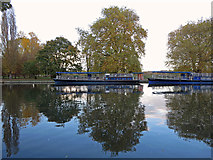 SP5105 : Mooring of the College Barges: Poplar Walk, Oxford by Dylan Moore