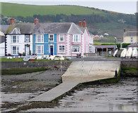 SN4562 : Harbour slipway at Aberaeron, Ceredigion by Roger  Kidd