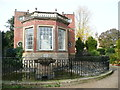 SK6464 : BaY window of the Orangery, and fountain, Rufford Abbey by Humphrey Bolton