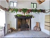 """ST7734 : Interior of the """"Gothic Cottage"""", Stourhead Estate by Derek Voller"""