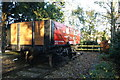 TL1714 : Wheathampstead Station - Restored railway wagon by John Webb