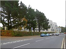 SX9392 : Barrack Road, Exeter with university medical school buildings by David Smith
