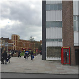 SP3379 : Rear of Primark store with inscription and phone box, Ironmonger Row, Coventry by Robin Stott