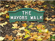 TM1644 : The Mayors' Walk sign in Christchurch Park by Adrian Cable