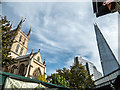 TQ3280 : The Shard and Southwark Cathedral, London SE1 by Christine Matthews