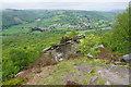 SK2477 : Rocky outcrop on Froggatt Edge by Bill Boaden