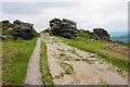 SK2476 : Path through rocks on Froggatt Edge by Bill Boaden