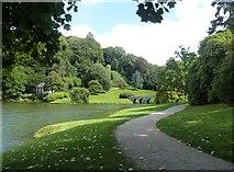 ST7733 : Lakeside Path, Stourhead Estate by Derek Voller