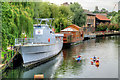 TG2308 : River Wensum, TS Lord Nelson Moored at Norwich by David Dixon