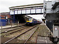 SW8144 : Penzance train arrives at Truro railway station by Jaggery