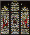 SK9153 : Stained glass window, St Helen's church, Brant Broughton by Julian P Guffogg