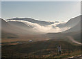 NO1375 : Low Clouds at Spittal of Glenshee by Anne Burgess